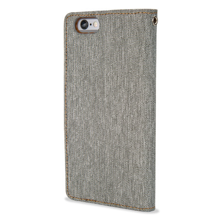 Mercury Canvas Diary iPhone 6S Plus / 6 Plus Wallet Case - Grey/Camel