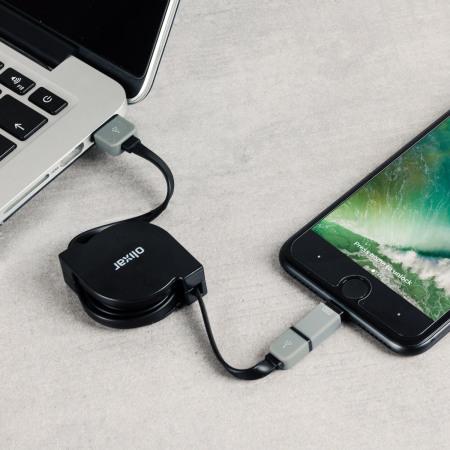 mobile olixar retractable dual lightning micro usb charge sync cable