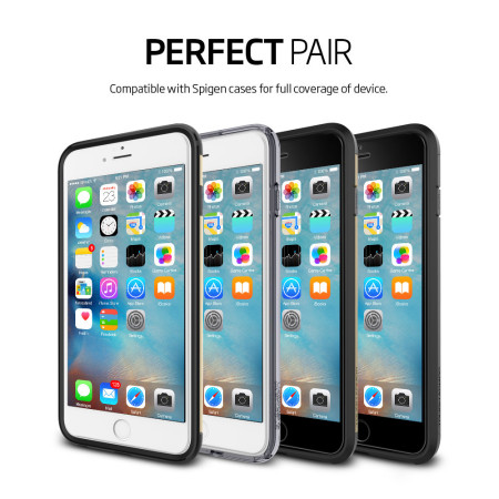 Spigen Full Cover iPhone 6S Tempered Glass Screen Protector - White