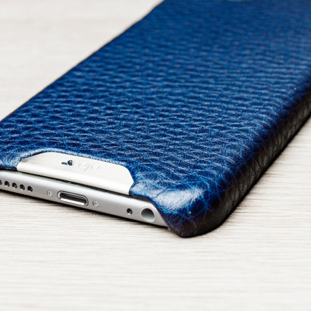 long vaja grip iphone 6s 6 premium leather case crown blue true blue should