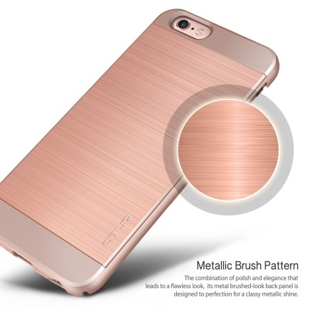 Obliq Slim Meta II Series iPhone 6S Deksel - Rose Gull