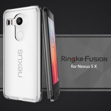 Rearth Ringke Fusion Google Nexus 5X Case - Smoke Black