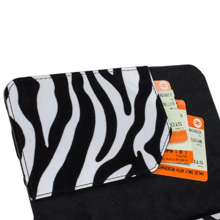 Olixar Zebra Kindle Paperwhite Book Case - Black/White