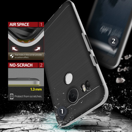 work verus high pro shield series nexus 5x case satin silver Ipads