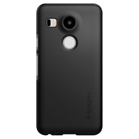 Spigen Thin Fit Nexus 5X Shell Case - Smooth Black