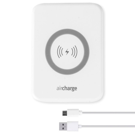 Daya aircharge slimline qi wireless charging pad white from the