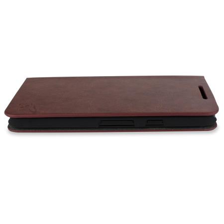 Olixar leather style nexus 5x wallet stand case black 4