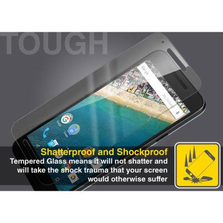 Olixar Nexus 5X Tempered Glass Skærmbeskytter