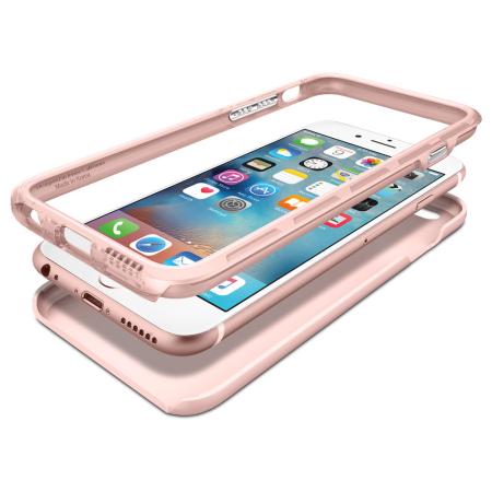 spigen thin fit iphone 6s plus 6 plus shell case rose gold
