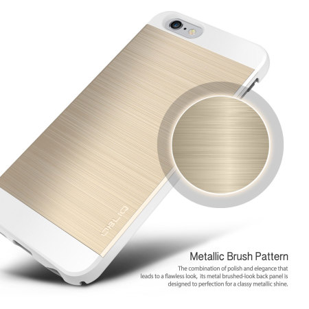 obliq slim meta ii series iphone 6s plus / 6 plus case - gold / white