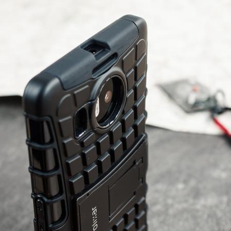 olixar armourdillo hybrid protective microsoft lumia 950 case black