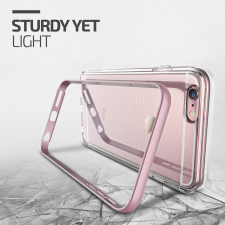 Verus Crystal Bumper iPhone 6S / 6 Case - Rose Gold