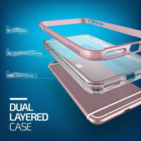 Verus Crystal Bumper iPhone 6S Plus / 6 Plus Case - Rose Gold