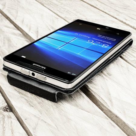 Housse Portefeuille Microsoft Lumia 950 XL Cuir - Noire
