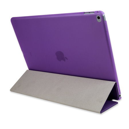 Olixar iPad Pro 12.9 inch Smart Cover with Hard Case - Purple