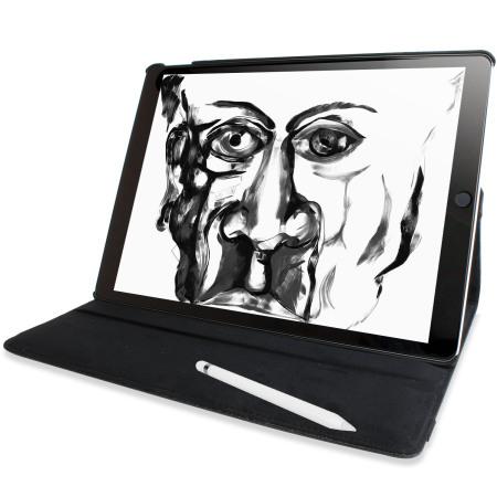 Olixar Floral Pattern Rotating iPad Pro 12.9 2015 Smart Case - Black
