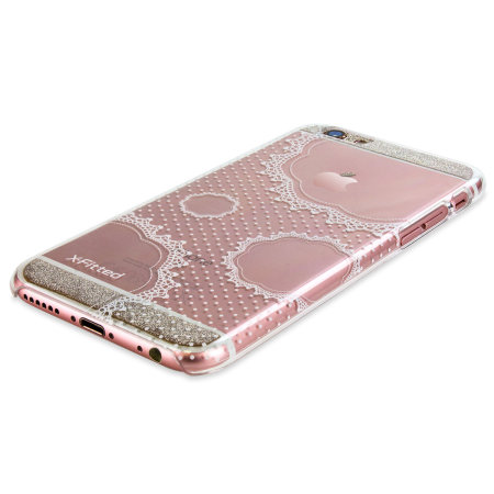 X-Fitted Pure Lace iPhone 6S / 6 Case - Clear / White