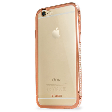 X-Fitted Bling Bumper iPhone 6S / 6 Case - Rose Gold