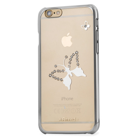 X-Fitted Butterfly iPhone 6S / 6 Case w/ Swarovski Elements - Silver