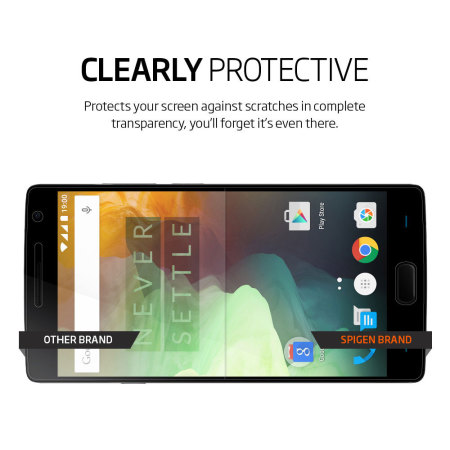 Spigen Crystal OnePlus 2 Film Screen Protector - Three Pack