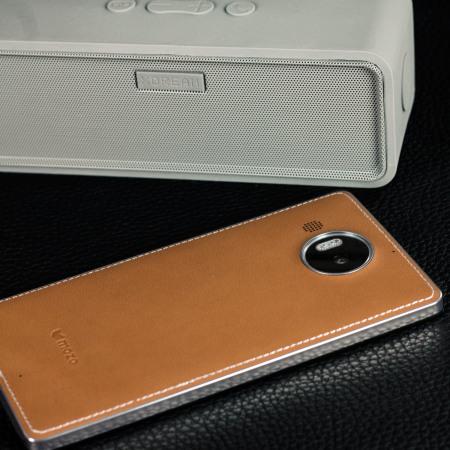 Mozo Microsoft Lumia 950 XL Wireless Charging Back Cover - Brown