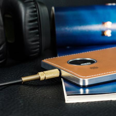 Mozo Microsoft Lumia 950 XL Wireless Charging Back Cover - Cognac