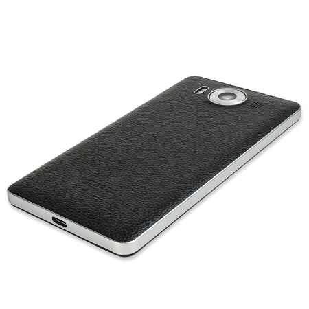 Mozo Microsoft Lumia 950 Wireless Charging Back Cover - Black / Silver
