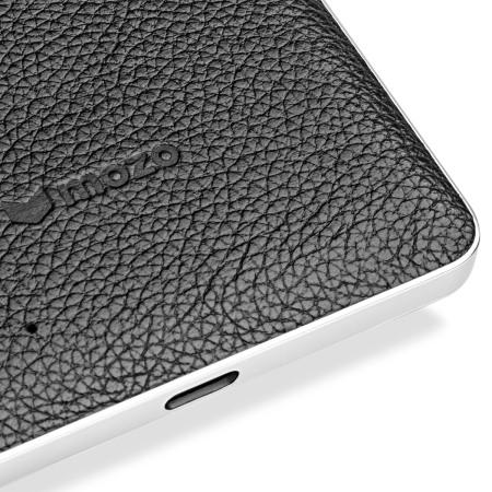 Mozo Microsoft Lumia 950 Wireless Charging Back Cover - Black / Silver