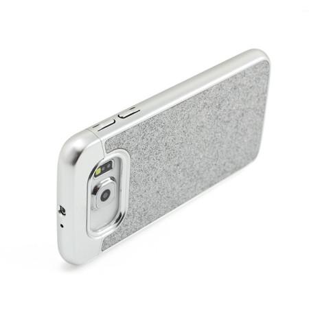Prodigee Sparkle Fusion Samsung Galaxy S6 Glitter Case - Silver