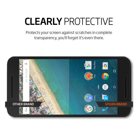Spigen Crystal Nexus 5X Screen Protector - Three Pack