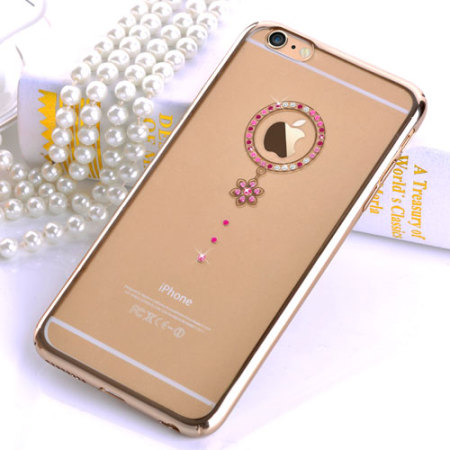 Comma Red Diamond Iphone 6s 6 Case Clear Gold