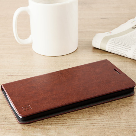 olixar leather style htc 10 wallet stand case red