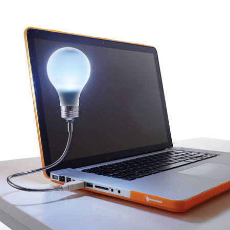 Mustard Bright Idea Portable USB Desk Light Bulb