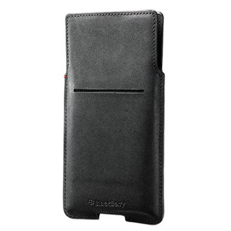 Official Blackberry Priv Leather Pocket Case Cover - Black