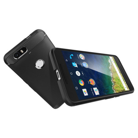 spigen rugged armor nexus 6p tough case black see