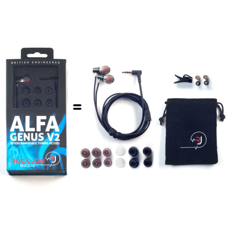 Rock Jaw Alfa Genus V2 Earphones met 3x Tuning Filters