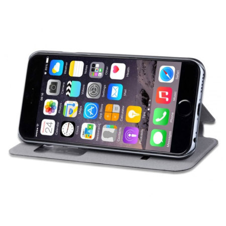 Active Leather-Style iPhone 6S/6 Flip Shell Case - Black
