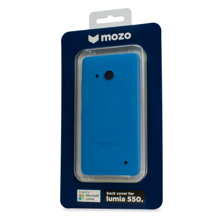 Mozo Microsoft Lumia 550 Back Cover Case - Blue