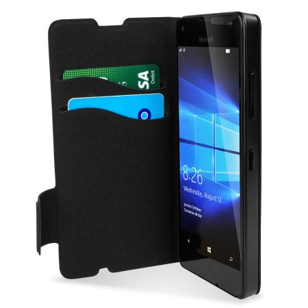 outlet store d6b38 a0de4 Mozo Microsoft Lumia 550 Flip Cover Case - Black