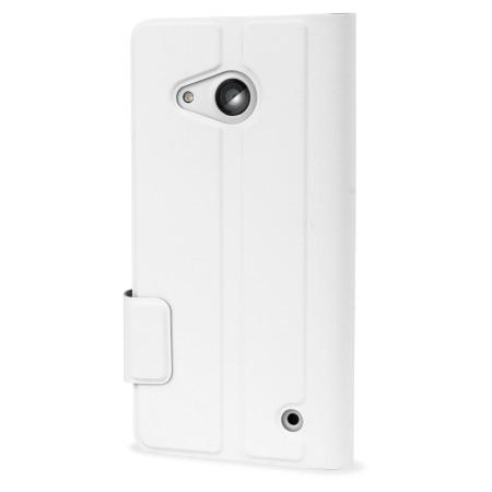 Mozo Microsoft Lumia 550 Flip Cover Case - White