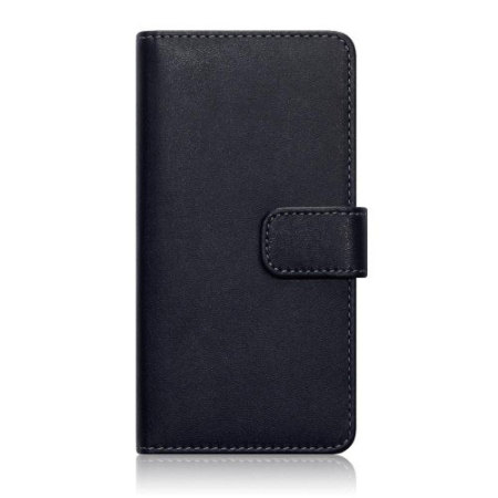 Olixar Leather-Style Huawei Honor 7 Wallet Case - Black / Tan