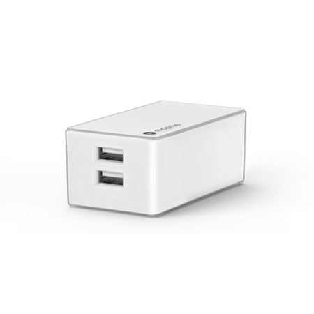 Mophie Dual USB Wall Charger Travel Plug 4.2A - White