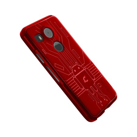 Cruzerlite Bugdroid Circuit Nexus 5X Case - Red