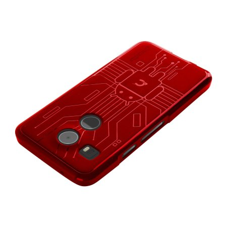 cruzerlite bugdroid circuit nexus 5x case red