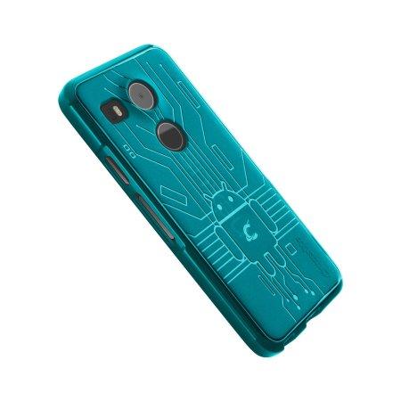 Cruzerlite Bugdroid Circuit Nexus 5X Case - Teal