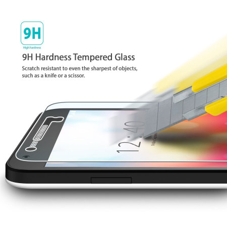 the rearth invisible defender htc one a9 tempered glass screen protector 2