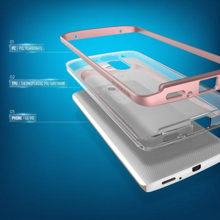 Verus Crystal Bumper LG V10 Case - Rose Gold