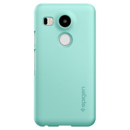 spigen thin fit nexus 5x shell case mint