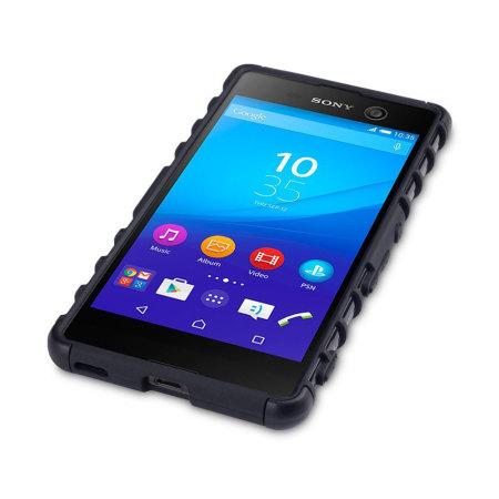 huge discount a5637 3a04b Olixar Armourdillo Hybrid Sony Xperia M5 Protective Case - Black