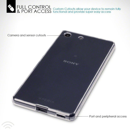 FlexiShield Sony Xperia M5 Gel Case - Clear